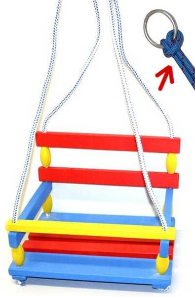 Klasická hojdačka na zavesenie z dreva pre deti s ohrádkou (zábranou) a  operadlom c3136ac70ce