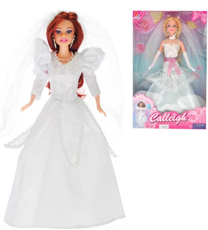 d650cc529f88 Bábika Calleigh nevesta kĺbová 29cm biele svadobné šaty 2 druhy v krabičke