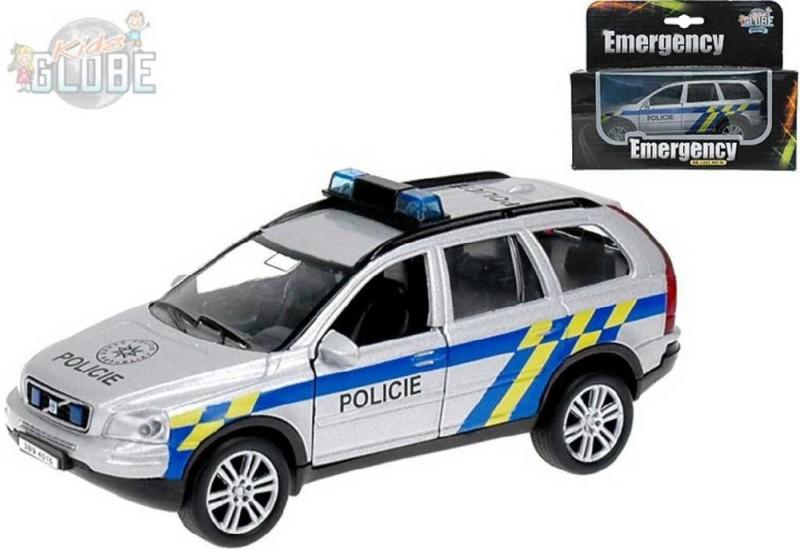b32eea39d Policajné auto kov POLÍCIA Volvo XC-90 1:43 Svetlo Zvuk