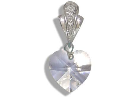 0b95f0dbf Prívesok s kryštálmi Swarovski Carlo Romani - srdce 10mm - crystal