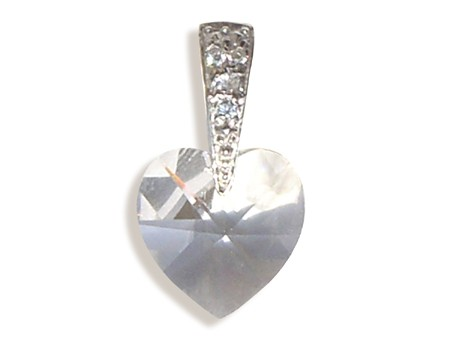 0a062aa71 Prívesok s kryštálmi Swarovski Carlo Romani - srdce 14mm - crystal
