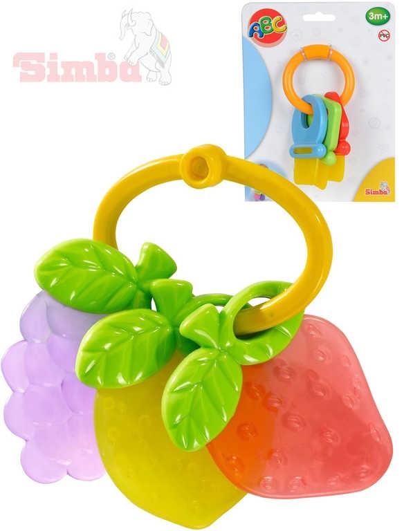 SIMBA Baby hryzátko kľúče   ovocie plastové 2 druhy pre bábätko na karte c2e590df967