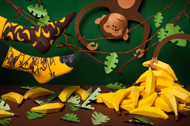 76461719257 Vtipné ponožky Opica a banány Kliknite pre detailný obrázok