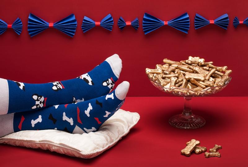4363c4bd216 Vtipné ponožky Psík a kocky Kliknite pre detailný obrázok