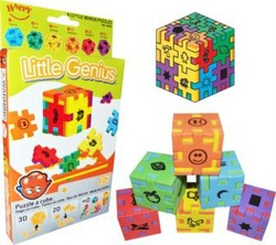 3D puzzle - Little Genius 6 kociek