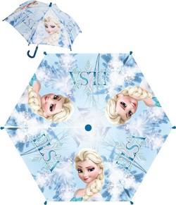 e99d8e3b998bf Deštník dětský Frozen Elsa modrý manuální skládací (Ledové Království)