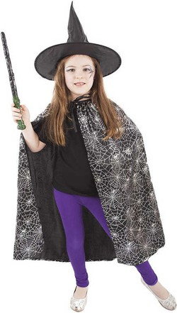 7f855e535076 KARNEVAL Plášť pavučinový čierny set s klobúkom (104-150 cm) 3-10
