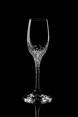 Krištáľové poháre EUMONIA zdobené brúsenými krištáľmi Swarovski 60 ml 2ad3e42f435