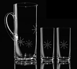 Krištáľový set džbánu a dvoch pohárov STARS d07c6707f5d