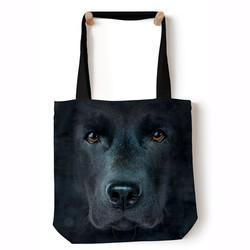 64e50610e4 Nákupná taška Black Lab Face Black Pet Dog