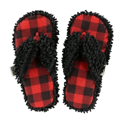 Šľapky LazyOne Unisex Moose Plaid Spa
