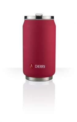 termohrnček <br> LES ARTISTES PARIS Can&#39;it Cherry <br> 280ml / matný červený